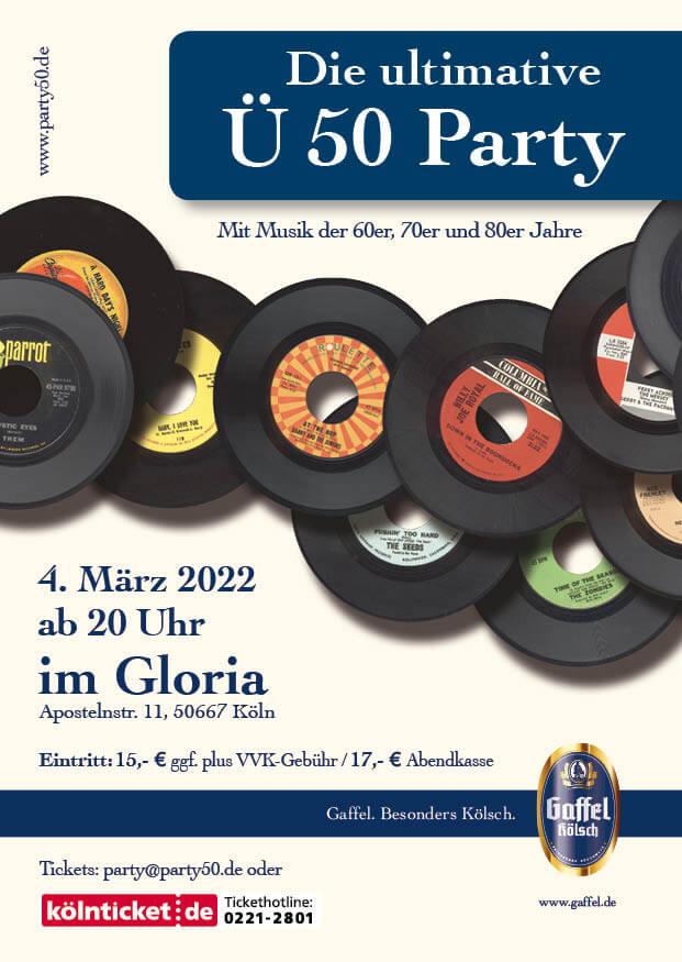 Ü50 Party Eintrittskarte